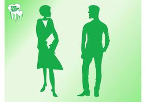 Talking-man-and-woman-silhouettes