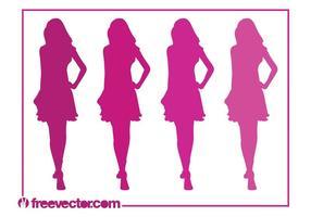 Runway Girls Silhouettes