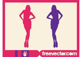 Fashion Pose Vector