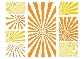 Sunburst patterns graphics