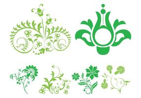 Green Floral Scrolls