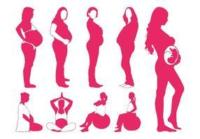 Pregnant Women Silhouettes