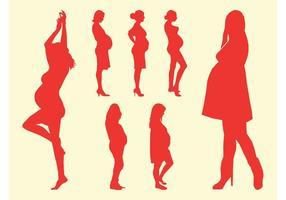 Silhouettes Of Pregnant Women