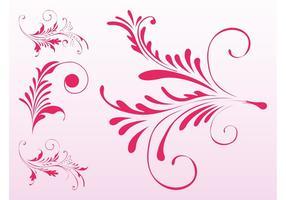 Pink Floral Scrolls