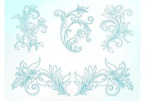 Floral Outlines Set