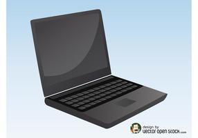Graphiques d'ordinateur portable noir