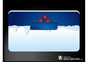 Tarjeta de visita con hielo