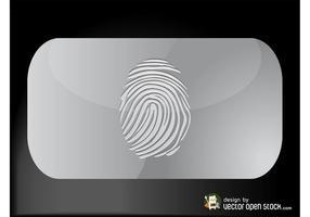 Tarjeta de visita de la huella dactilar