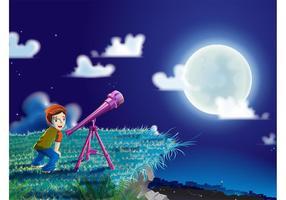 Garçon Avec Télescope