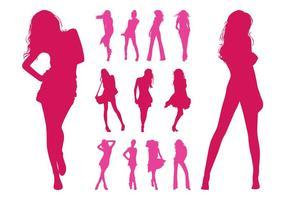 Fashion Models Silhouettes Set