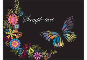 Fjärilhälsningskortsmall