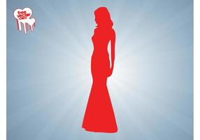 Elegante Woman Silhouette Graphics