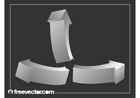 Zilveren 3D Pijlen