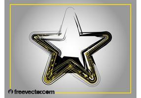 Grunge ster afbeelding