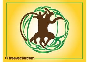 Logo de l'arbre abstrait