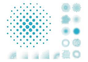 Halftone Patterns Set