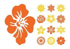 La flor florece los iconos