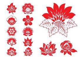 Blommande blommiggrafik