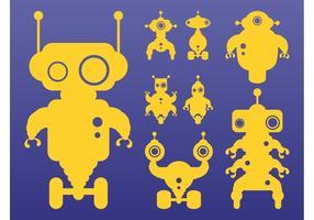 Robots Silhouettes Set