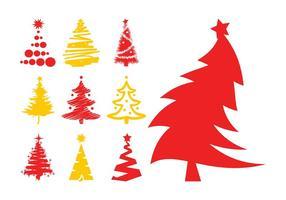 Siluetas de árboles de Navidad