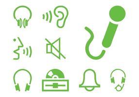 Conjunto de ícones de som