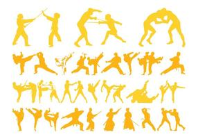 Martial Arts Silhouettes Graphics