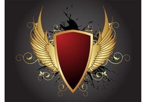 Antique Golden Shield