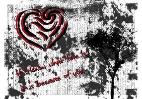 De Kaart van de Dag van Grunge Valentijnskaart