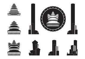 Edificios Siluetas Gráficos