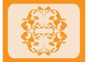 Gráfico floral de la voluta del vintage