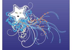 Stjärna och virvlar grafik