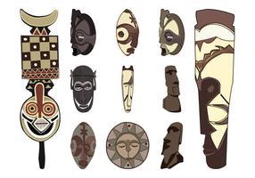 Tribal Masks Set