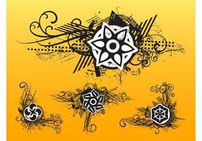 Grunge Floral Designs