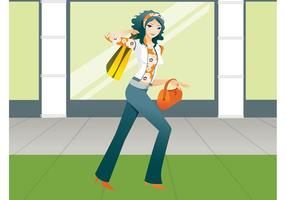 Shopping Girl Graphics