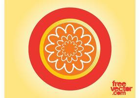 Floral Badge Design