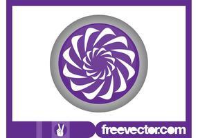 Logo floral rond