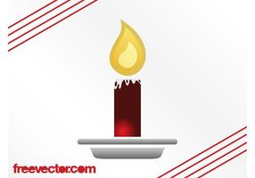 Burning Christmas Candle