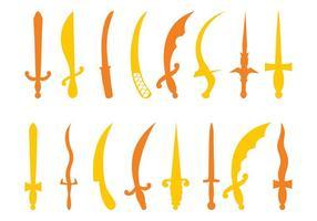 Antique Swords Silhouettes