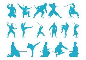 Silhuetas de Ninjas
