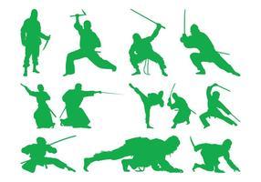 Kämpfende Ninjas
