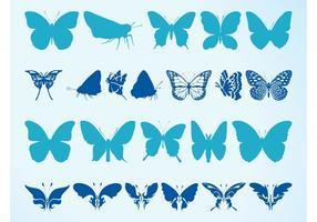 Siluetas de mariposas