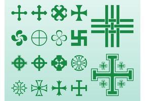 Kreuze und Symbole