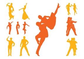 Latin Dancers Silhouettes