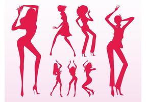 Sexiga Dancing Girls Silhouettes