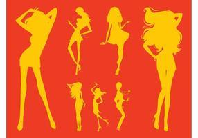 Siluetas de Chicas Chicas