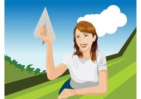 Girl-with-paper-plane