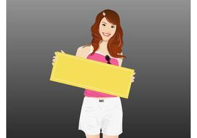 Smiling Girl With Board