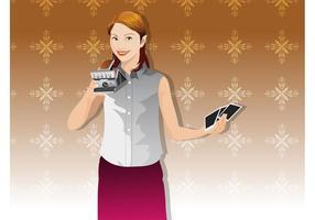 Chica Con La Cámara Polaroid