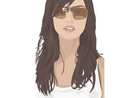 Fille sexy avec lunettes de soleil