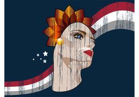 Retro Woman Poster